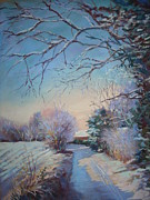 Realist Pastels - Longridge Lane in the snow by Heather Harman