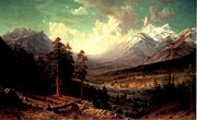 Wa Painting Metal Prints - Longs Peak  Metal Print by Albert Bierstadt