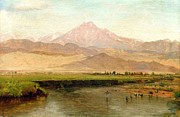 Waterfowl Paintings - Longs Peak Colorado by Pg Reproductions