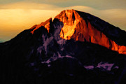 Colorado Greeting Cards Prints - Longs Peak Greets the sun Print by Jon Burch Photography
