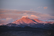 Rocky Mountain Foothills Posters - Longs Peak Sunrise Poster by Aaron Spong