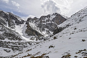 Technical Framed Prints - Longs Peak Winter Framed Print by Aaron Spong