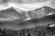 James Bo Insogna - Longs Peak Winter View BW