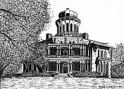 Mansion Drawings - Longwood - Nutts Folly by Bruce Kay