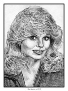 Grey Drawings Framed Prints - Loni Anderson in 1978 Framed Print by J McCombie