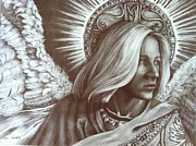 Angels Drawings - Look Homeward Angel by Esther Smith