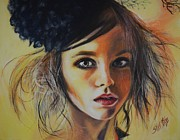 Scared Painting Metal Prints - Look of Innocence Metal Print by Shirl Theis