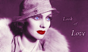 20s Drawings Posters - Look of Love 2 Poster by Stefan Kuhn