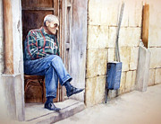 Zaher Bizri - Look - watercolor -...