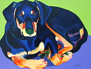 Paws Painting Originals - Looker by Adele Castillo