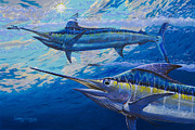 Blue Marlin Paintings - Lookers Off0019 by Carey Chen