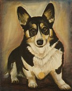 Corgis Framed Prints - Lookin Good Framed Print by Sheila Diemert