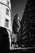 City Streets Prints - Looking Along Fenchurch Buildings Towards The Gherkin City Of London England Uk Print by Joe Fox
