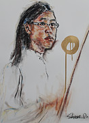 Violin Pastels - Looking at the Conductor II by Chia Hui Shen