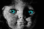 Creepy Photo Framed Prints - Looking at You Kid Framed Print by JC Findley