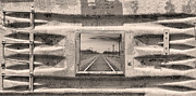 Picture Window Frame Photos Art - Looking Back Sepia Panorama by James Bo Insogna