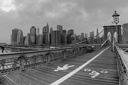 Brooklyn Bridge Prints - Looking back to the City Print by David Hahn
