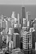Aerial Art - Looking down at beautiful Chicago by Christine Till