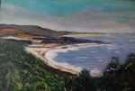 Looking Down On Half Moon Bay Print by Carolyn Donnell