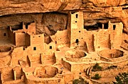 Mesa Verde Photos - Looking Down On Long House by Adam Jewell
