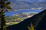 Schweitzer Framed Prints - Looking down on Sandpoint Framed Print by Albert Seger