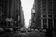 Traffic Stop Prints - Looking Down The Middle Of Seventh Avenue Outside Madison Square Garden Print by Joe Fox