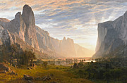 Albert Bierstadt - Looking Down Yosemite...