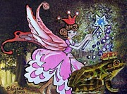 Frog Metal Prints - Looking for a Prince Metal Print by Eloise Schneider