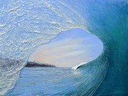 Wave Framed Prints - Looking for an Exit Framed Print by Nathan Ledyard