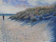Atlantic Ocean Pastels Metal Prints - Looking For Summer Metal Print by Sharon Lazarowicz
