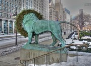 Michigan Avenue Prints - Looking for supper Print by David Bearden
