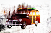 Fifties Automobile Prints - Looking For Surf City Print by Bob Orsillo