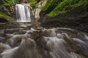 Looking Metal Prints - Looking Glass Falls Metal Print by Joseph Rossbach