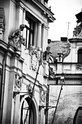 Sculptors Prints - Looking Out in Prague Print by John Rizzuto