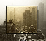 Snow Manhattan Prints - Looking Out On A Snowy Day - NYC Print by Madeline Ellis