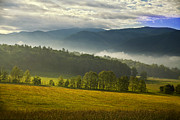 Smoky Mountains Posters - Looking out over Cades Cove Poster by Andrew Soundarajan