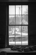Seagoing Prints - Looking out the Oyster Shack - Maritime Memories Print by Gary Heller