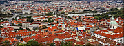 Red Roofs Photos - Looking Over Prague by Madeline Ellis