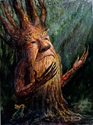 Tree Creature Metal Prints - Looking To the Light Metal Print by Frank Robert Dixon