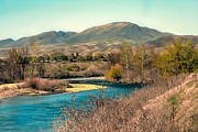Emmett Prints - Looking Up the Payette River Print by Robert Bales