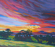 Modesto Paintings - Looking West From Amador Hills by Vanessa Hadady BFA MA