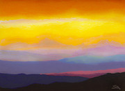 Red Sunset Painting Framed Prints - Looking West Framed Print by Stephen Anderson