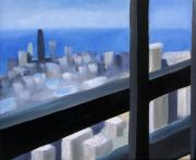 Highrise Painting Framed Prints - Lookout  Framed Print by Christina Rahm Galanis
