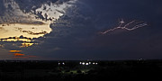 Photographer Lightning Photo Prints - Looks Like Time to Call This Off Print by Gary Holmes