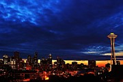 Seattle Skyline Photos - Looming by Benjamin Yeager