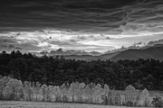 Peaceful Scenery Posters - Looming Storm over Cades Cove Poster by Andrew Soundarajan