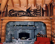 Cedar Sculptures - Loon Mural by Teddy n Laurie Mahood