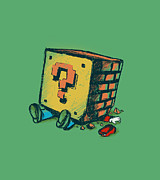 Vintage Nintendo Game Prints - Loose Brick Print by Budi Satria Kwan