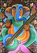 Worship God Paintings - Lord Ganesha by Jyoti Vats