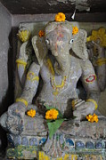 Lord Ganesha At Shiv Temple Sculptures - Lord Ganesha by Makarand Kapare